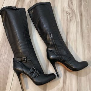 NEW Coach Miriam Black Leather Boots, Sz 8.5